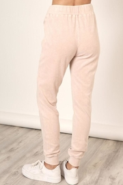 Mustard Seed Washed Velour Sweatpants - Back cropped