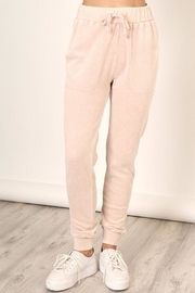 Mustard Seed Washed Velour Sweatpants - Front cropped