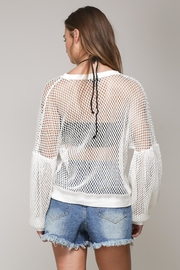 Mustard Seed White Net Top - Side cropped