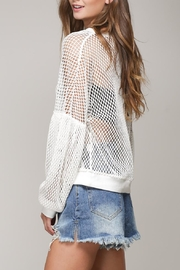 Mustard Seed White Net Top - Front full body