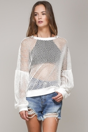 Mustard Seed White Net Top - Other