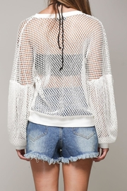 Mustard Seed White Net Top - Back cropped