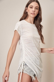 Mustard Seed White Shirring Top - Front full body