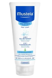 Mustela 2 in 1 Cleansing Gel, Baby Body & Hair Cleanser for Normal Skin - Product Mini Image