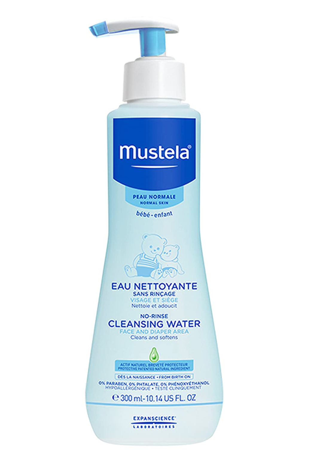 Mustela No Rinse Cleansing Water, Micellar Water Cleanser For Baby's Face, Body & Diaper - Main Image