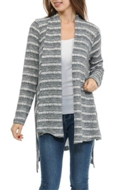 Cubism Muted Stripe Cardigan - Front cropped