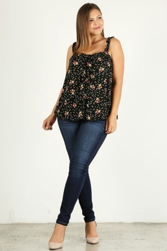 AAAAA FASHIONS MUY BONITA PLUS SIZE FLORAL TANK - Alternate List Image