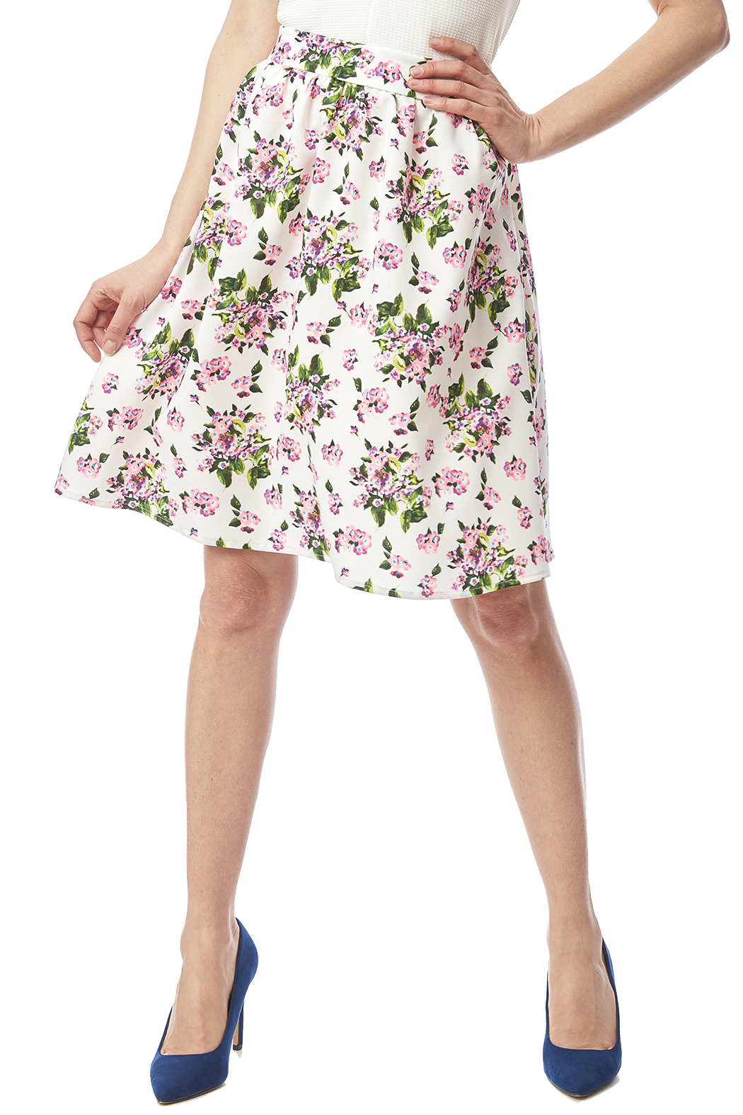 A line floral print midi skirt in white,xl with $ at urgut.ga Great reputation fashion retailer with large selection of womens & mens fashion clothes, .