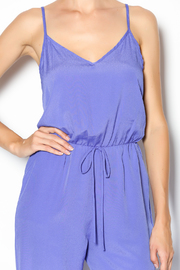 My Beloved Solid Drawstring Jumpsuit - Front full body