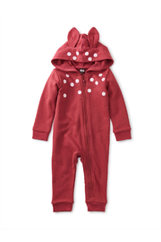 Tea Collection  My Deer Hooded Baby Romper - Product Mini Image