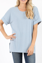 Zenana My Fav T Curvy Round Neck - Front cropped