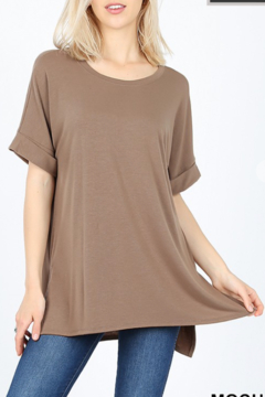Shoptiques Product: My Fav T Curvy Round Neck