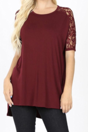 Kindred Mercantile My Fav T Lace Cold Shoulder - Product Mini Image