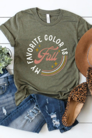 kissed Apparel My Favorite Color is Fall Graphic Tee - Product Mini Image