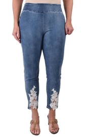 True Blue  Lace Ankle Jeans - Product Mini Image