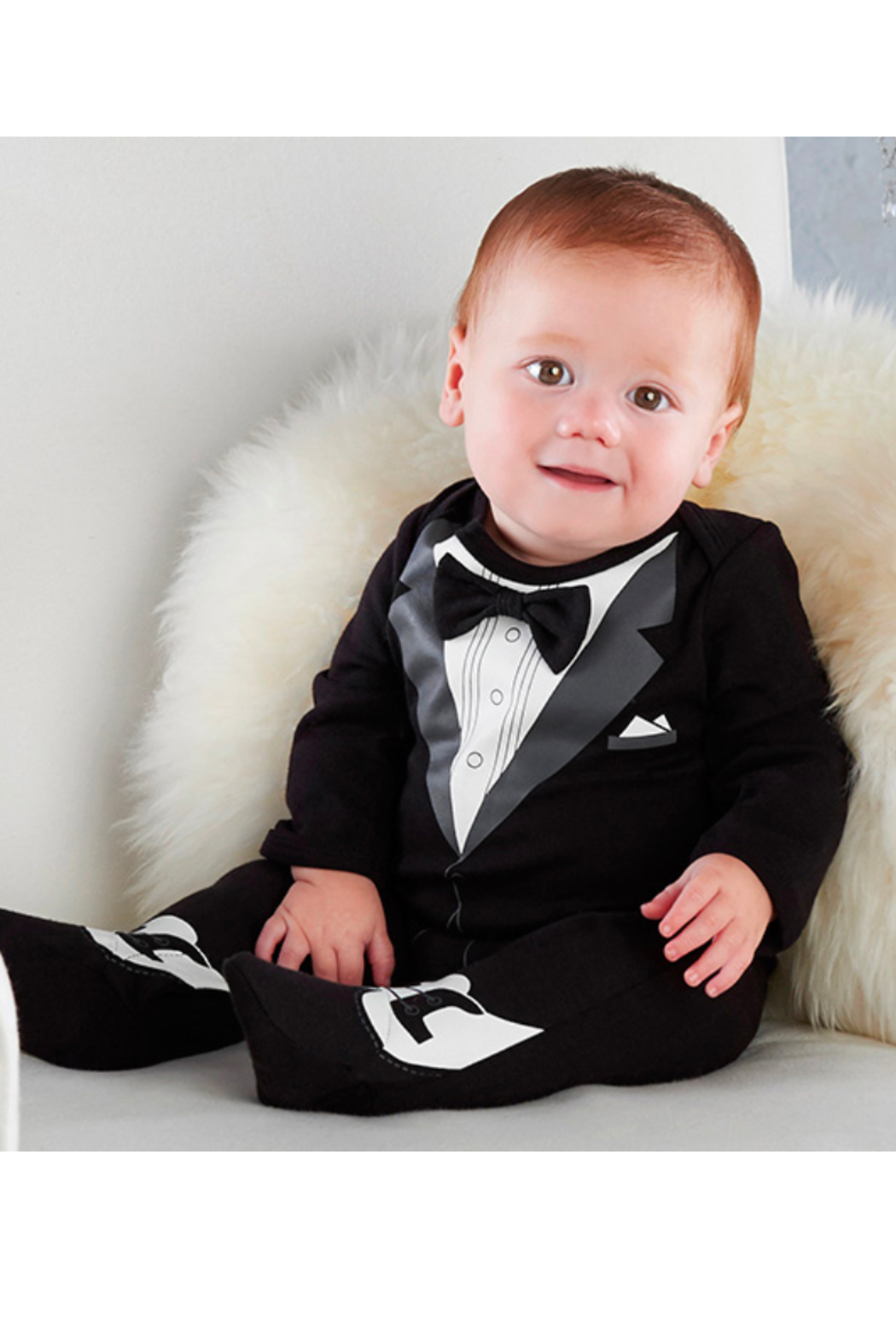 Baby Aspen My First Tuxedo - Front Full Image