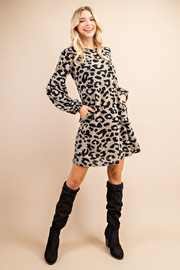 143 Story My Leopard Story Dress - Front cropped