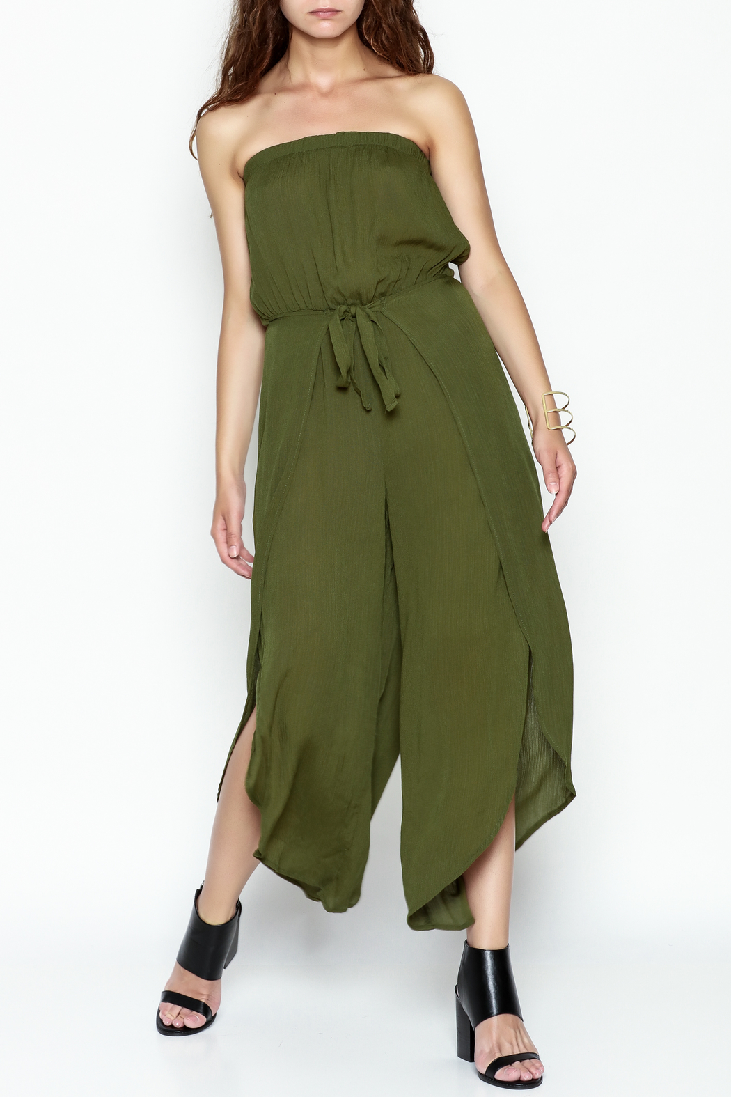 My Story Wrap Front Jumpsuit - Front Cropped Image