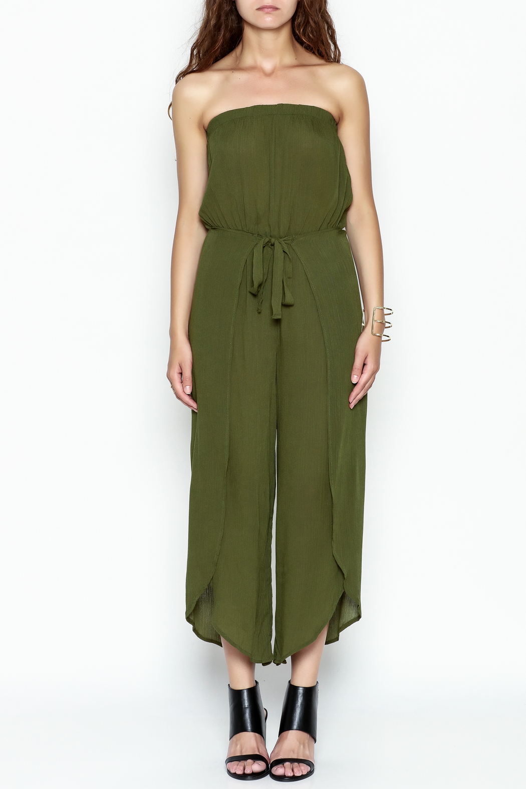 My Story Wrap Front Jumpsuit - Front Full Image