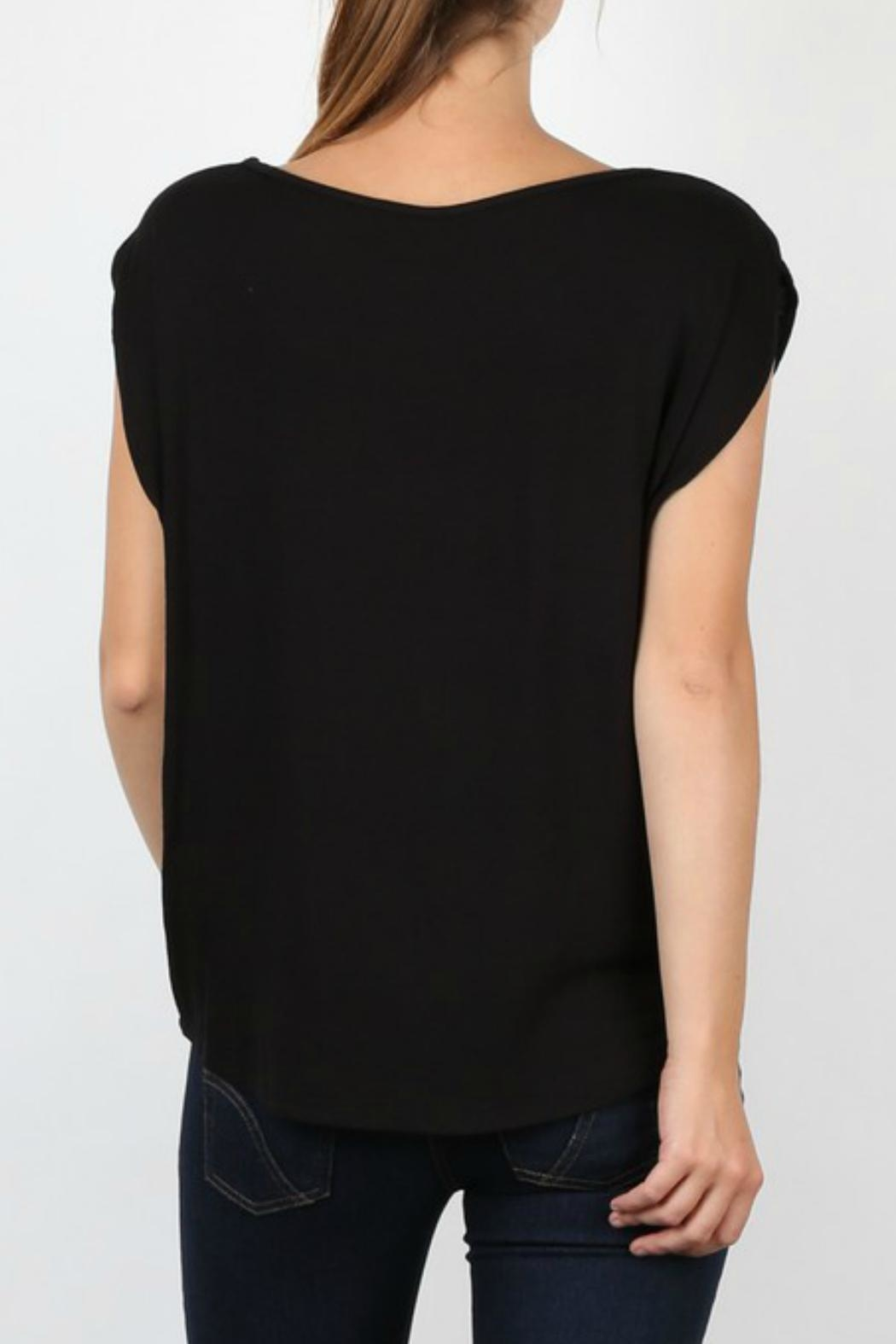 My Beloved Black Basic Top - Side Cropped Image