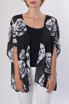 My Beloved Black Printed Kimono - Product List Image