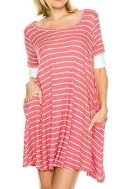 My Beloved Pink Striped Dress - Product Mini Image