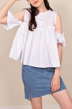 My Beloved White Ruffle Top - Product List Image
