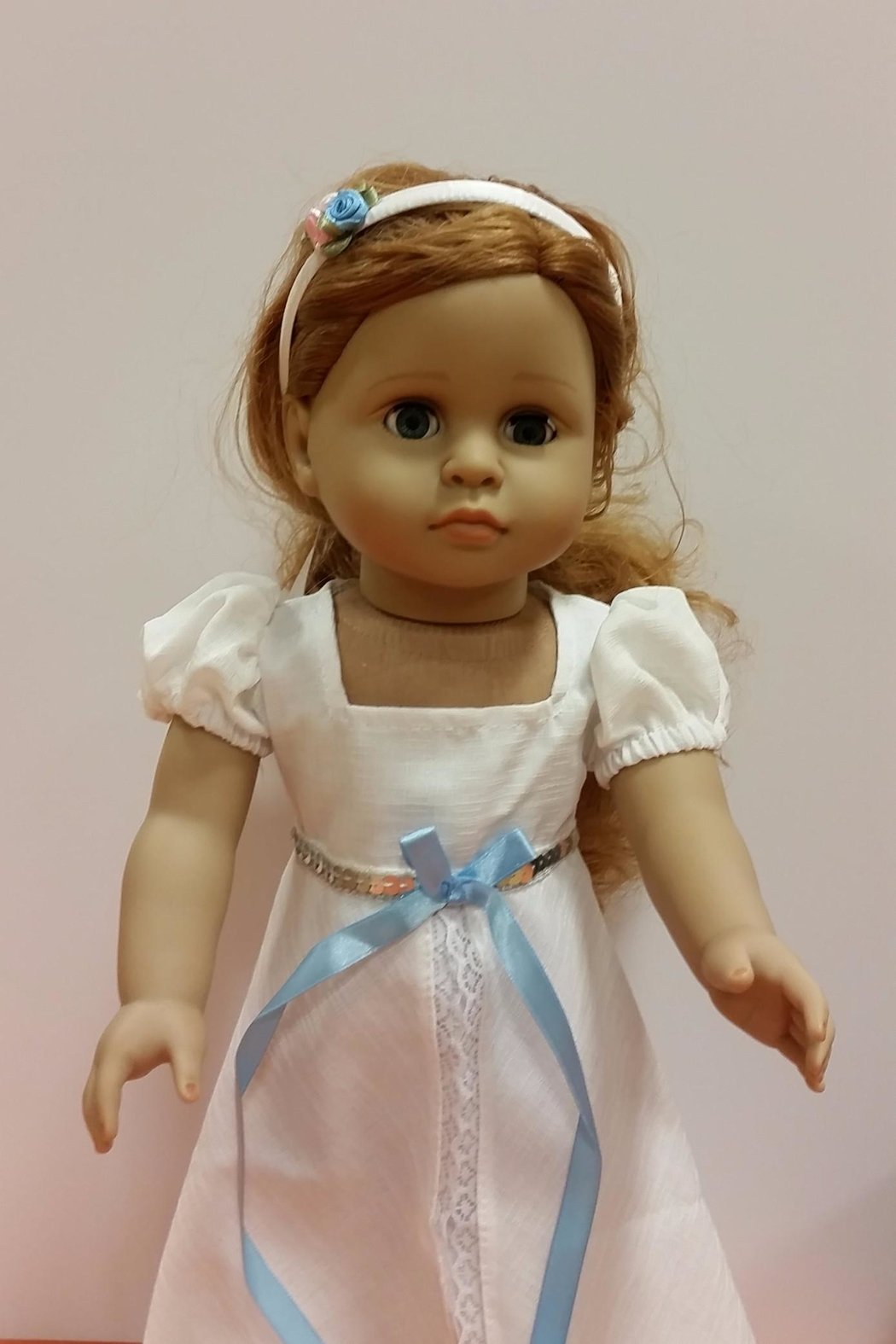 My Brittany's Doll White Victorian Gown - Front Full Image