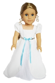 My Brittany's Doll White Victorian Gown - Front cropped