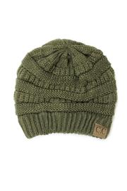 C.C Beanie Olive Beanie - Front cropped