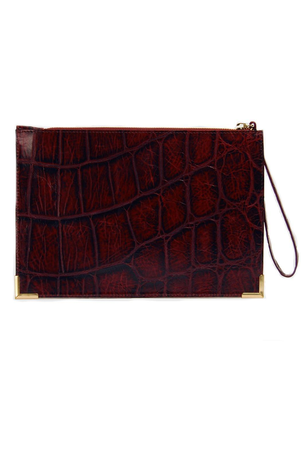 My Choice Bordeaux Leather Clutch - Main Image