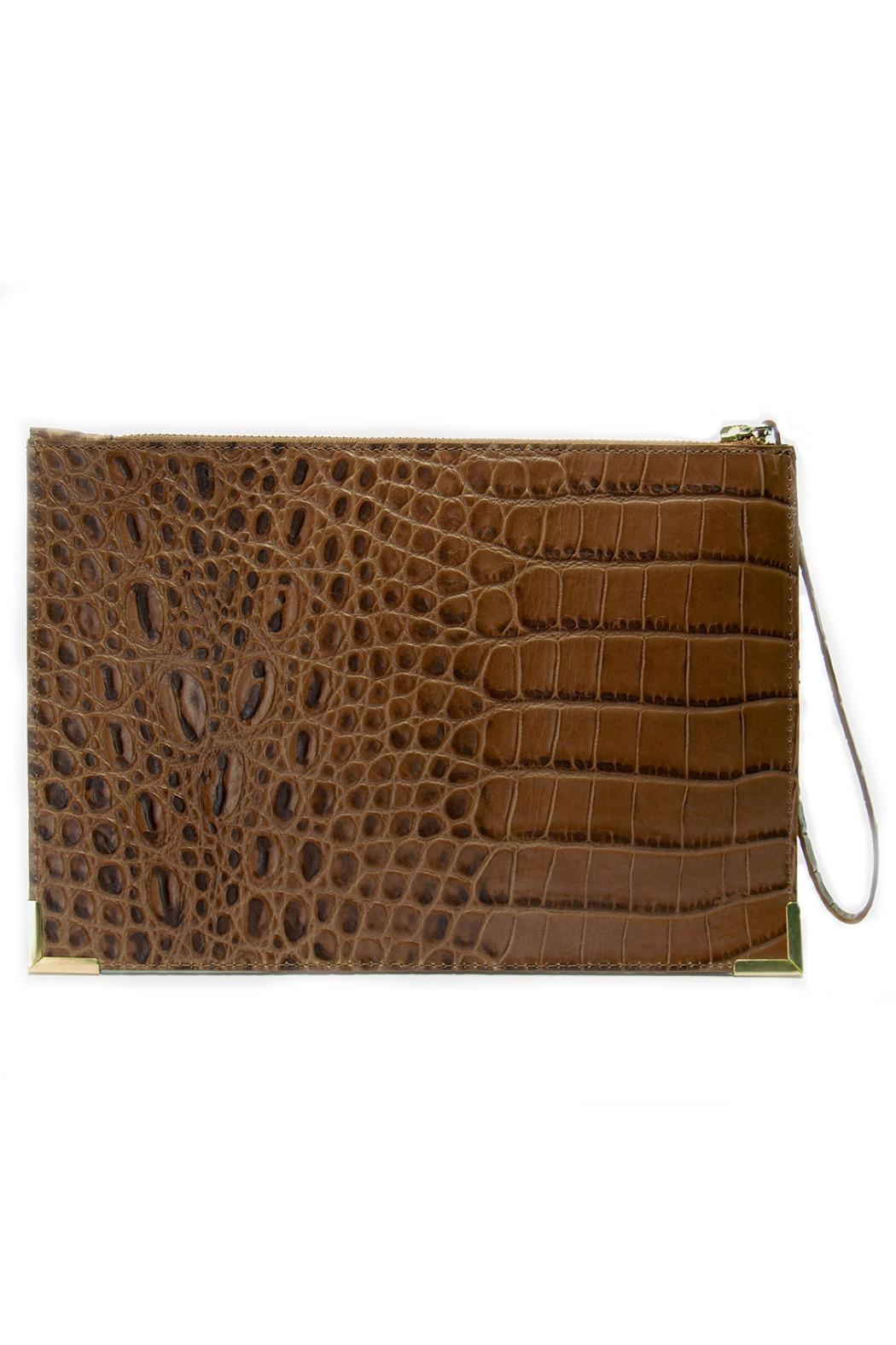 My Choice Crocodile Embossed Clutch - Front Cropped Image