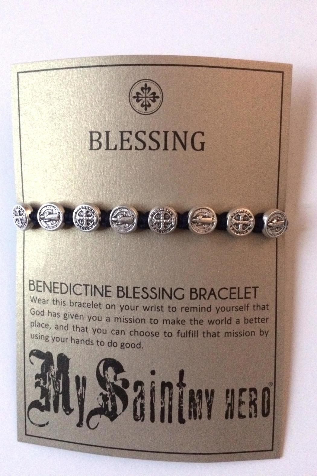 My Saint My Hero Benedictine Blessing Bracelet - Front Full Image