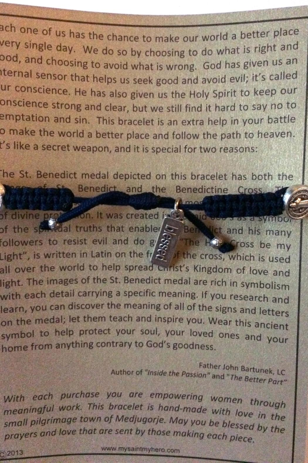 My Saint My Hero Benedictine Blessing Bracelet - Side Cropped Image