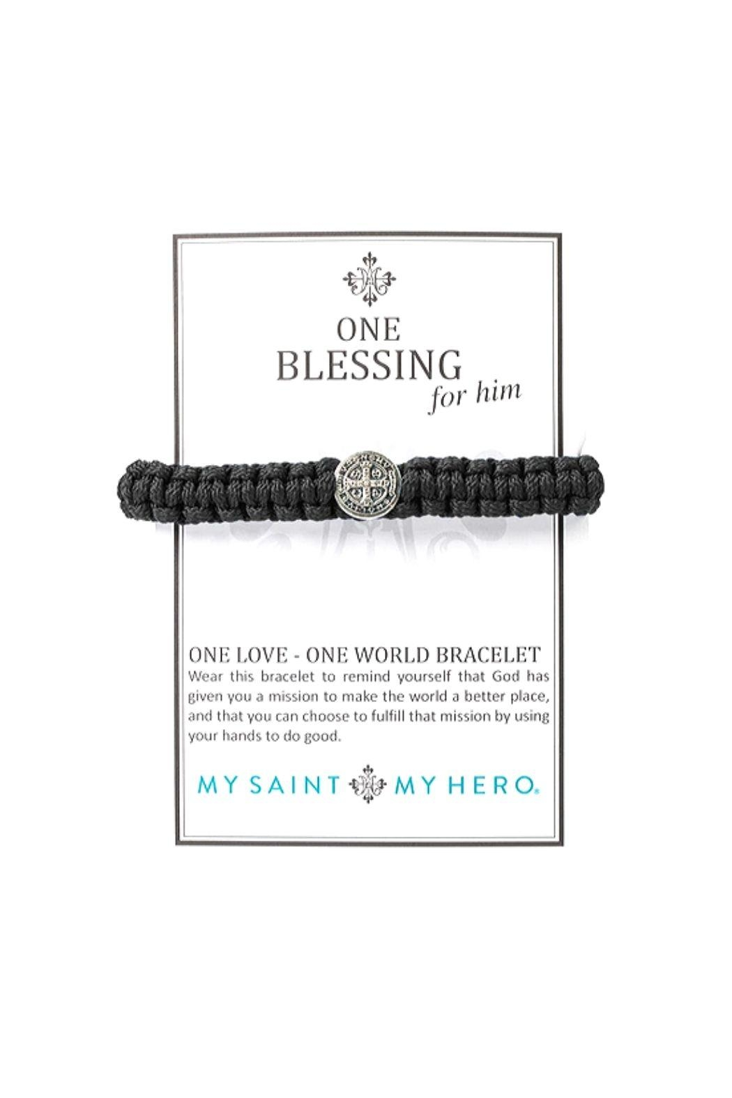 My Saint My Hero Blessing Benedictine For Him Bracelet - Front Full Image