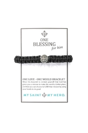 My Saint My Hero Blessing Benedictine For Him Bracelet - Front full body