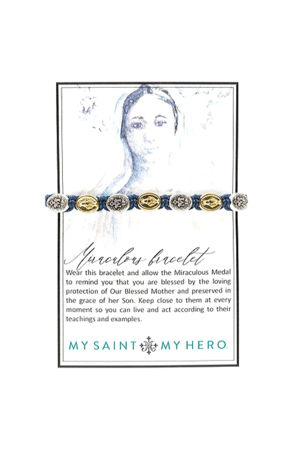 My Saint My Hero Miraculous Mary Blessing Bracelet - Front Full Image
