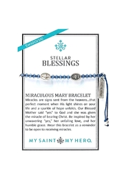 My Saint My Hero Stellar Blessings Miraculous Mary Blessing Bracelet - Front full body