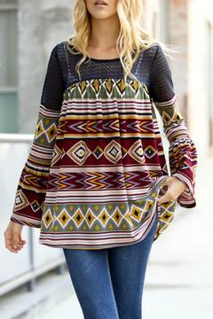 My Story Burgundy Aztec Top - Alternate List Image