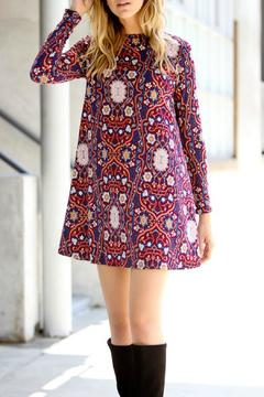 Shoptiques Product: Burgundy Print Dress