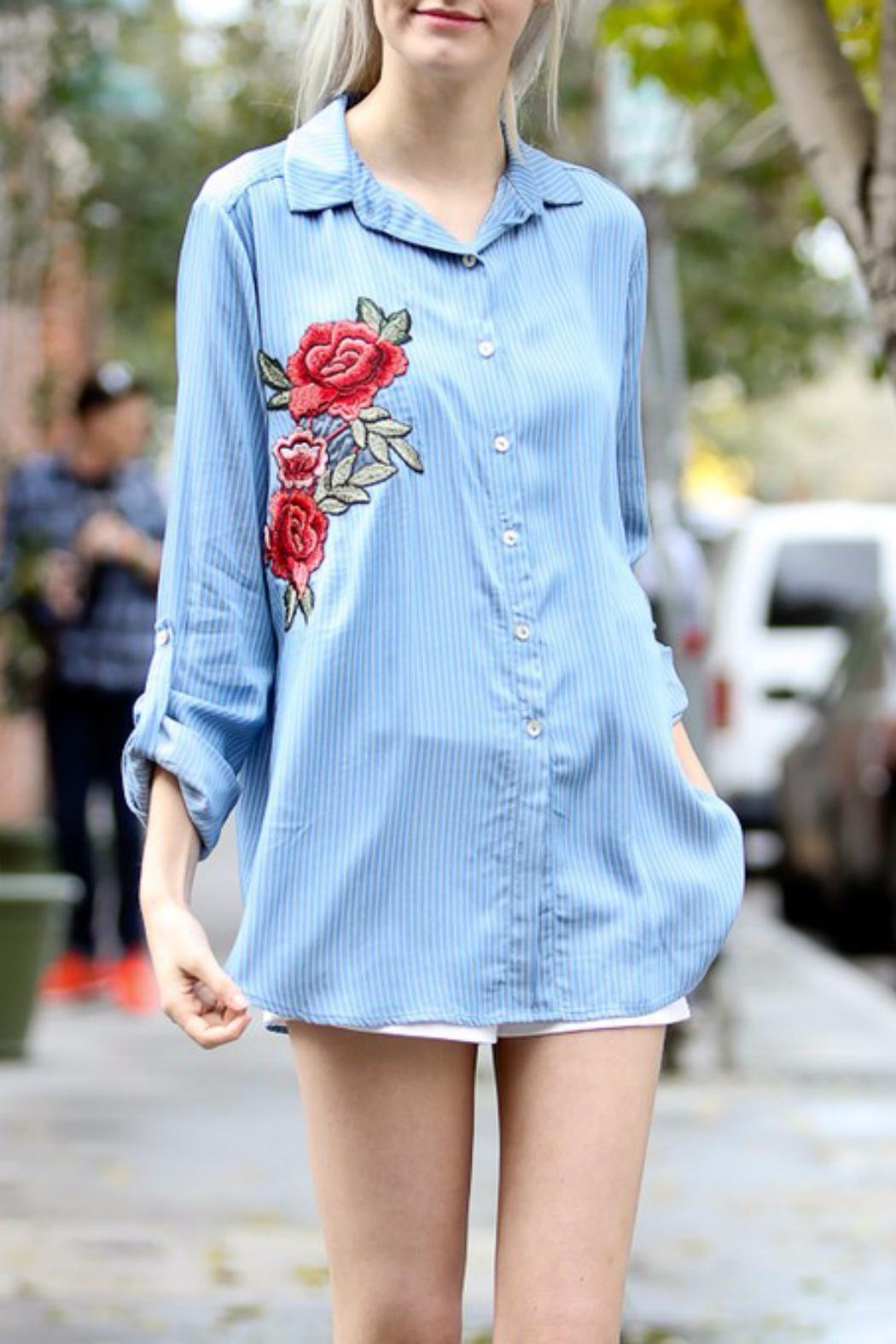 2f576f75cab71 My Story Embroidered Denim Shirt from Nashville by JeweLL Fashion ...