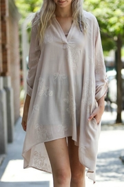 My Story Floral Embroidered Tunic - Front full body