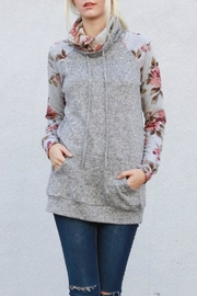 My Story Floral Sleeve Pullover - Product Mini Image