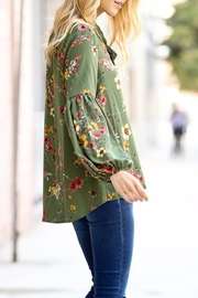 My Story Floral Tie Top - Front full body