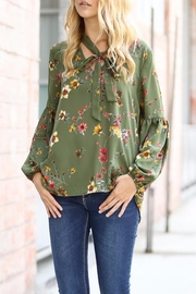 My Story Floral Tie Top - Front cropped