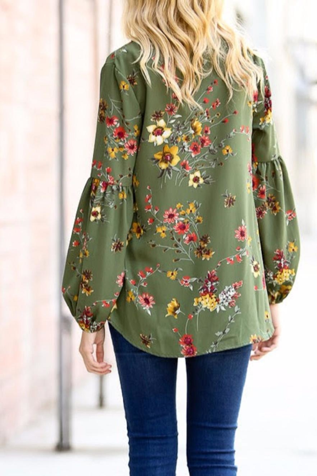 My Story Floral Tie Top - Side Cropped Image
