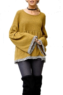My Story Fringed Peplum Sweater - Alternate List Image