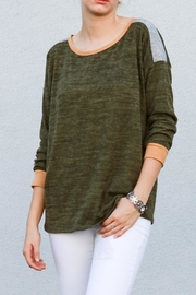 My Story Heather Olive Top - Product Mini Image
