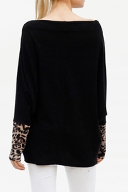 My Story Leopard Sleeve Sweater - Front full body