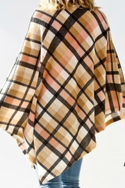 My Story Mockneck Plaid Poncho - Side cropped